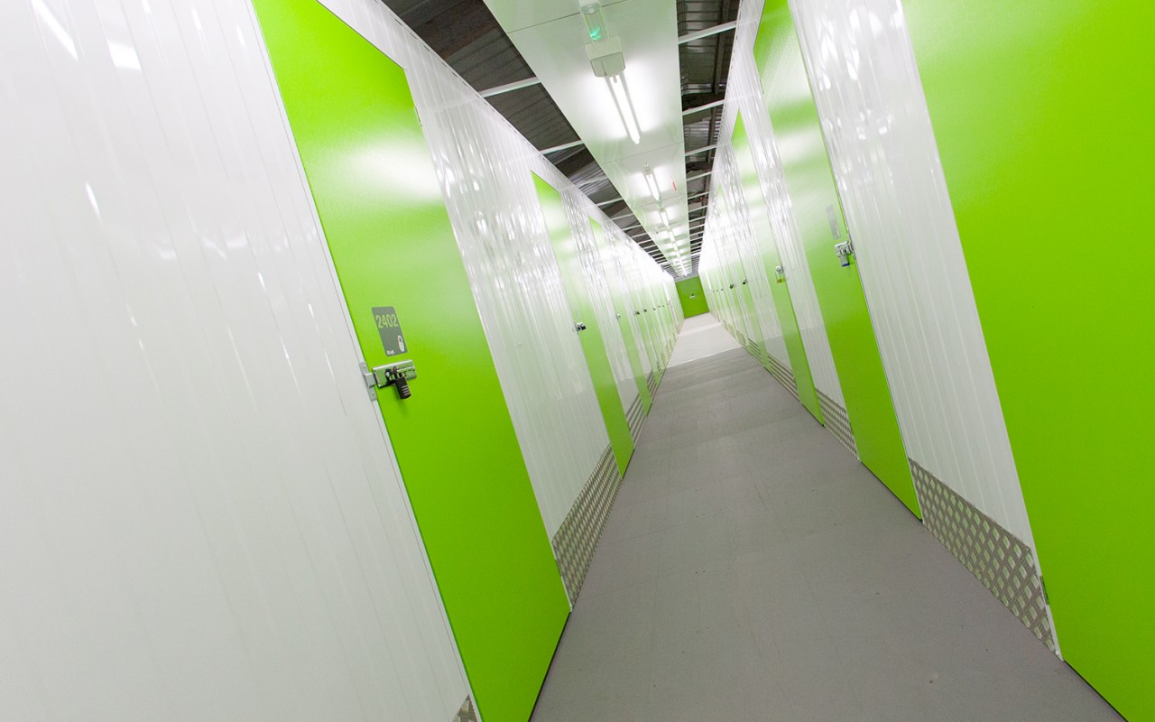Internal self storage at Dash Self Store